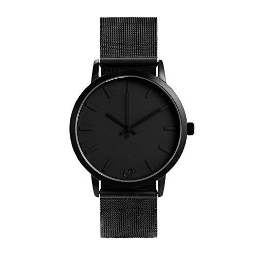 Gaxs Watches Jamming Joe Mesh schwarz mit Mesh Edelstahl Armband