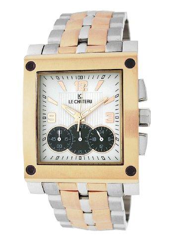 Le Chateau Herren 5403MTT ROSE WHTandBLK Sports Dinamica Sammlung Titanium Chrono Uhr