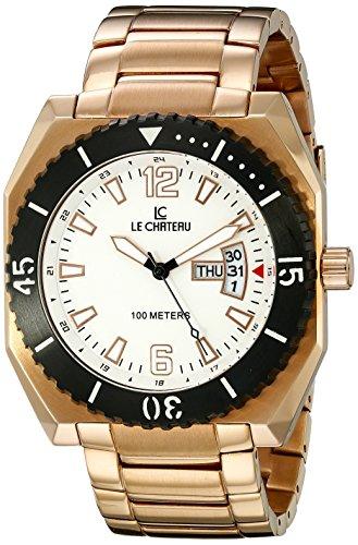 Le Chateau Herren 5406MROSE WTH Sports Dinamica Sammlung mit Tag und Datum Rose Gold Uhren