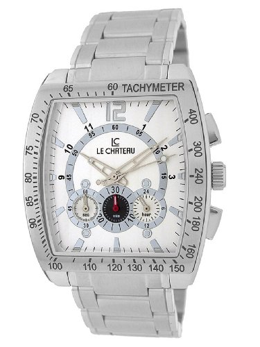 Le Chateau Herren 5408M WHT Sports Dinamica Sammlung mit Chrono und Military Time Watch