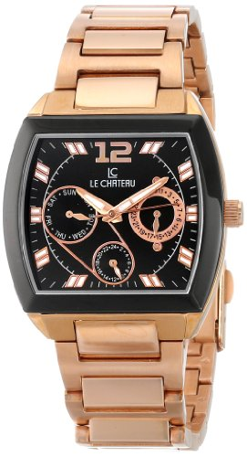 Le Chateau Herren 5420M BLK Sports Dinamica Sammlung Rose Gold Uhren