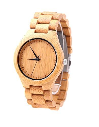 mercimall alle Bambus Holz Kunstharz Handgelenk Uhren fuer Maenner und Frauen mit Holz Uhr Band Armband