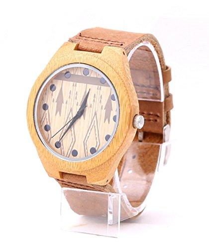 mercimall Herren schoene Uhr die Casual Holz Armbanduhr Earth Bambus Holz umweltfreundlich Uhren
