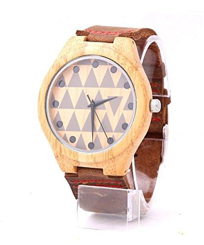 mercimall Hohe Qualitaet Herren Casual taeglichen Wear Original Getreide aus recyceltem Holz Quarz Analog Handgelenk Uhren