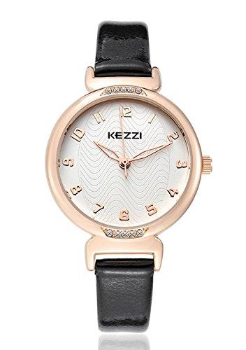 mercimall Quarz Damen Casual Handgelenk Uhren in schwarz