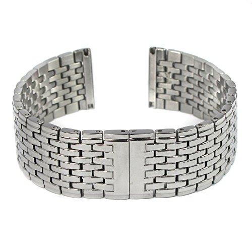 MapofBeauty 20mm Silber edelstahl Stahl Links Armbanduhr Bande Uhrenarmband Unsichtbar Doppel faltbare Uhrenschlieen