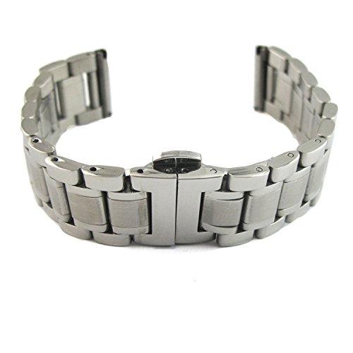 MapofBeauty bequem mit Eleganz Design Edelstahl Armbanduhr Uhrenarmbands mit Unsichtbare Sicherheitsdruckknopfschliesse 20 Millimeter