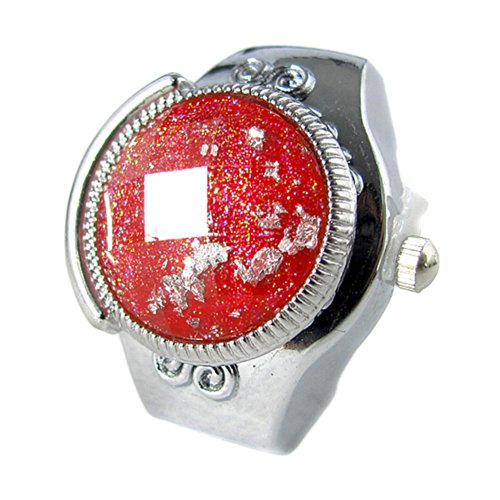 MapofBeauty Damen Metall Uhrenarmband Automatik Selbst Wind rund Ring Uhren Silber Uhrenarmband Wei Zifferbltter