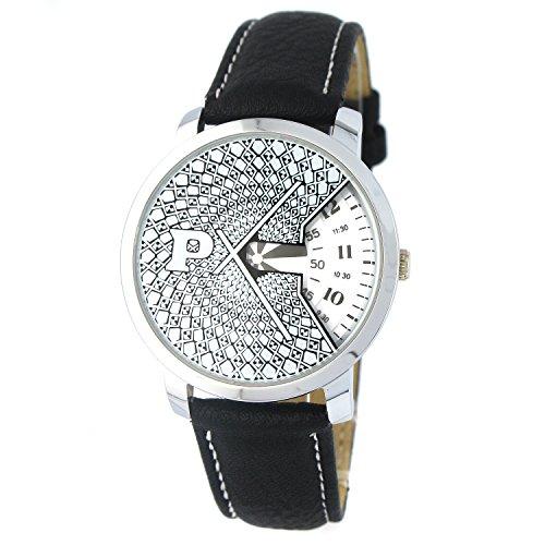 MapofBeauty Fashion Sondergestaltung Weiss Zifferblatt mit Schwarz Uhrenarmband Quarzuhr