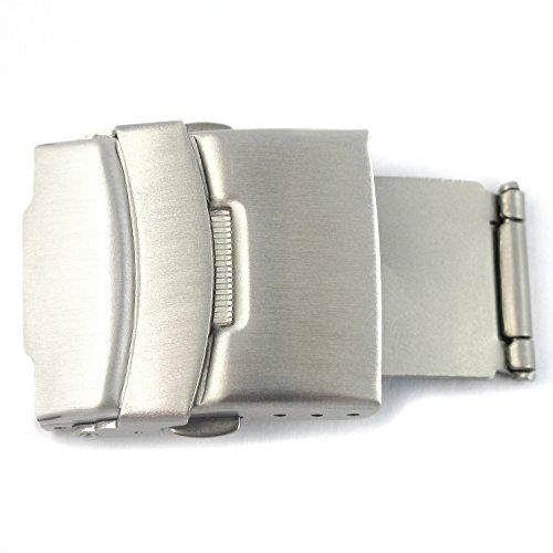 MapofBeauty Stainless Steel Deployment Clasp With Sicherheitsdruckknopfschliesse For Watch Strap Band Deployment 20mm