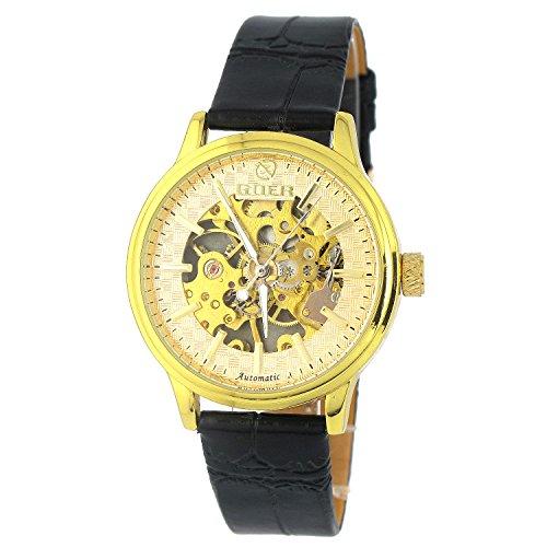 MapofBeauty Superschlank Design teilweise Ausgehoehlt Manuelle Mechanik Uhr Gold Rahmenmaterialien Gold Zifferblatt