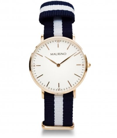 MAURINO Analog Quarz Textil Rose Gold 36mm M01622