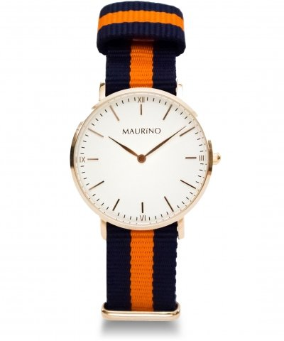 MAURINO Analog Quarz Textil Rose Gold 36mm M01624