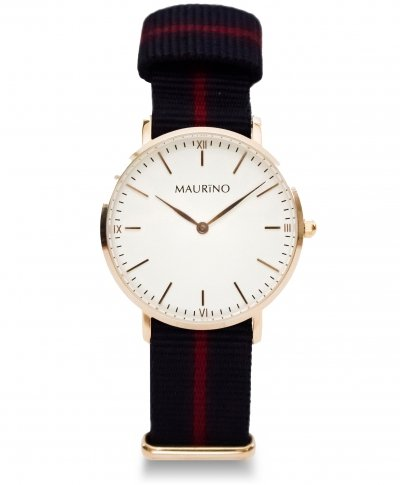 MAURINO Analog Quarz Textil Rose Gold 36mm M01626
