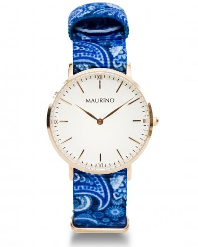 MAURINO Analog Quarz Textil Rose Gold 36mm M01628