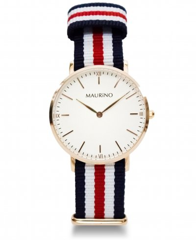 MAURINO Analog Quarz Textil Rose Gold 36mm M01630