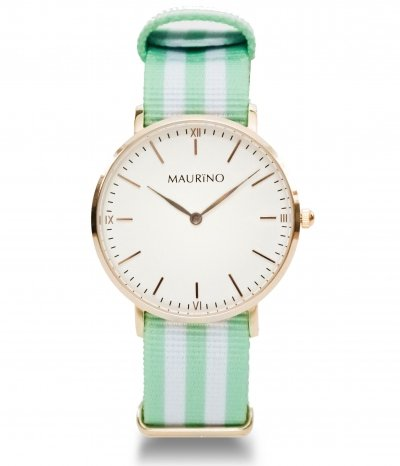 MAURINO Analog Quarz Textil Rose Gold 36mm M01632