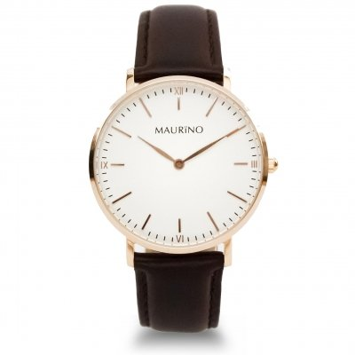 MAURINO Analog Quarz Leder Rose Gold 36mm M01618