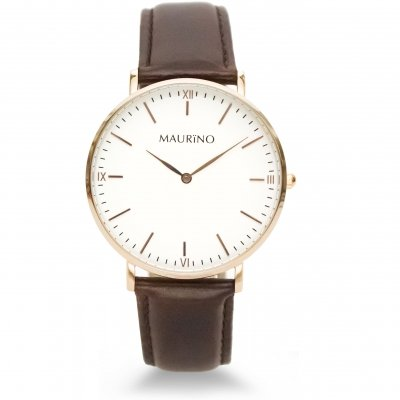 MAURINO Analog Quarz Leder Rose Gold 40mm M0161
