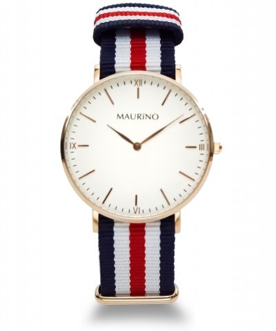 MAURINO Analog Quarz Textil Rose Gold 40mm M01613
