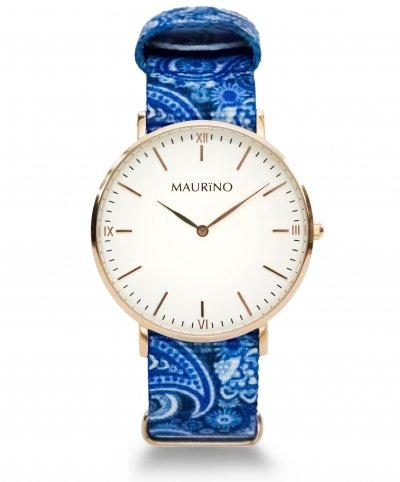 MAURINO Analog Quarz Textil Rose Gold 40mm M01611