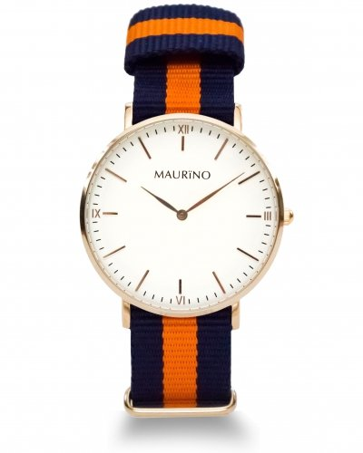 MAURINO Analog Quarz Textil Rose Gold 40mm M0167