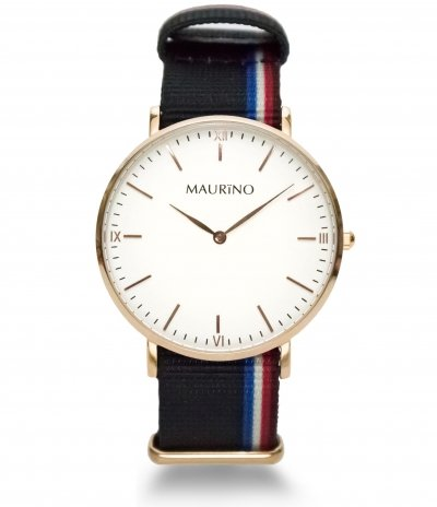 MAURINO Analog Quarz Textil Rose Gold 40mm M01615