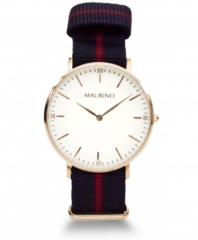 MAURINO Analog Quarz Textil Rose Gold 40mm M0169