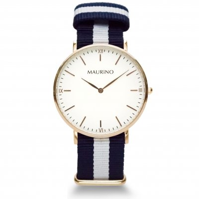 MAURINO Analog Quarz Textil Rose Gold 40mm M0165
