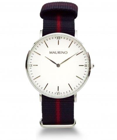 MAURINO Analog Quarz Textil Silber 40mm M01610