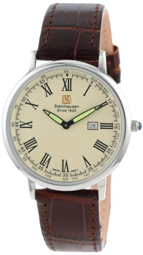 Steinhausen Herren TW493S Dunn Horitzon Thin Schweizer Quartz Silber Uhr