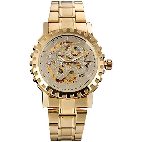 Gute Classic alle Golden Mechanische Armbanduhr Automatische hip hot Skelett Luminous