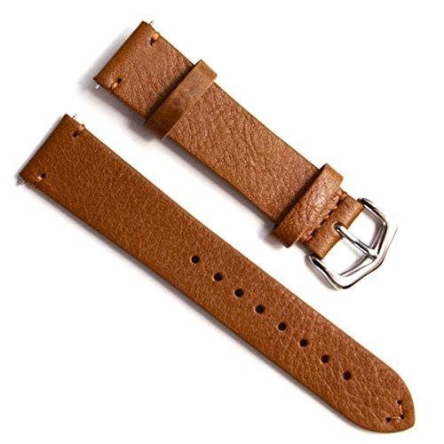 Gruen Oliv 18 mm Handgefertigt Vintage Rindsleder Leder Uhrenarmband Armbanduhr Band Braun OEl Wachs Leder