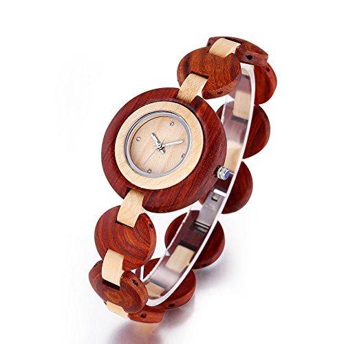 bewell die handgefertigten bambus frauen armbanduhren mit analogen 273901