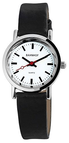 Damen Quartz Watch Bahnhofsuhr klassisch Pu Leder Damenuhr Analog Armbanduhr