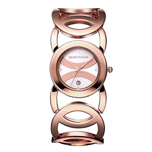 jiangyuyan frauen sehen gold tages date mit crystal zeitpl ne und unendlichkeit armband 380803