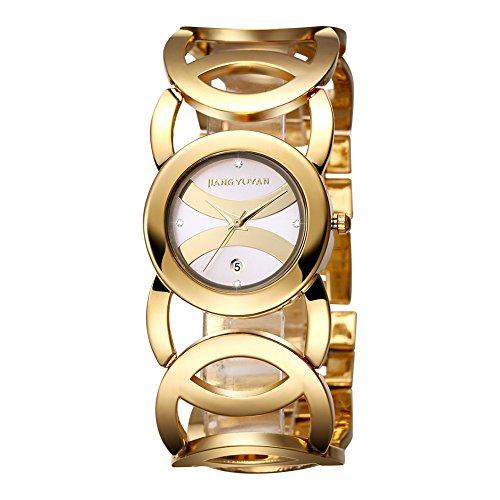 jiangyuyan frauen sehen gold tages date mit crystal zeitpl ne und unendlichkeit armband 380801