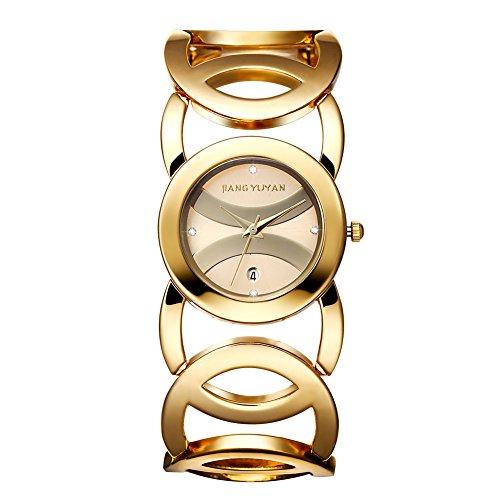 jiangyuyan frauen sehen gold tages date mit crystal zeitpl ne und unendlichkeit armband 380802
