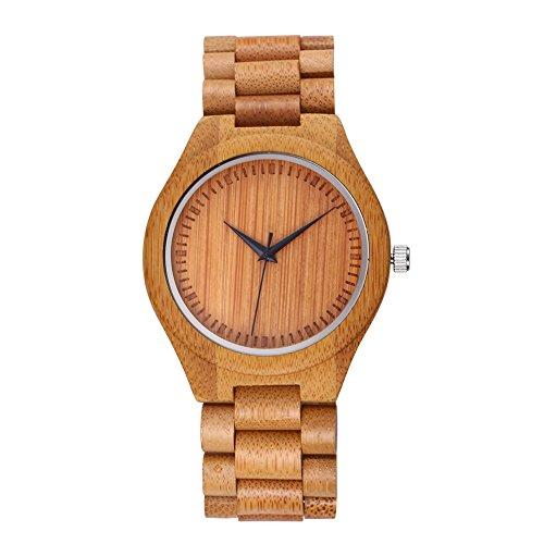 jiangyuyan m nnliche eco handgefertigte bambus holz armbanduhren analoge quarz armbanduhren beige 377501