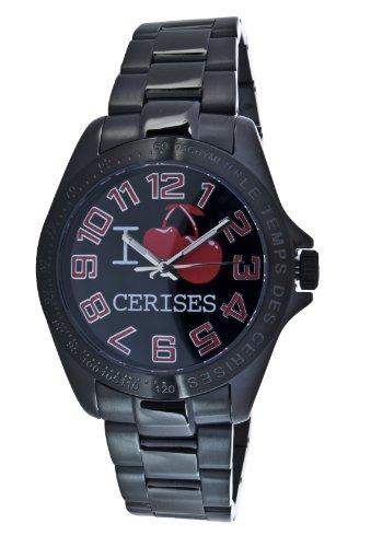 Le Temps des Cerises Damen Armbanduhr Analog Quarz Edelstahl TC02TBK2M