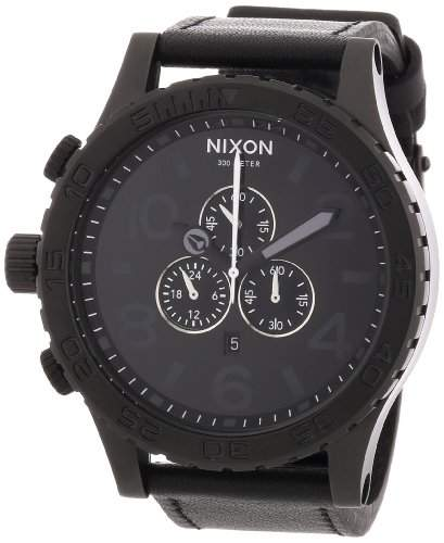 Nixon Herren-Armbanduhr Chronograph Leder A124001-00
