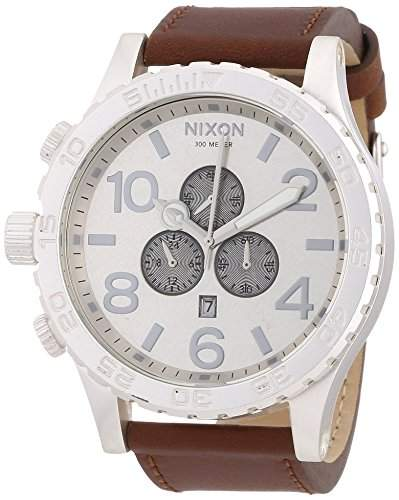 Nixon Herren-Armbanduhr Chronograph Leder A124747-00