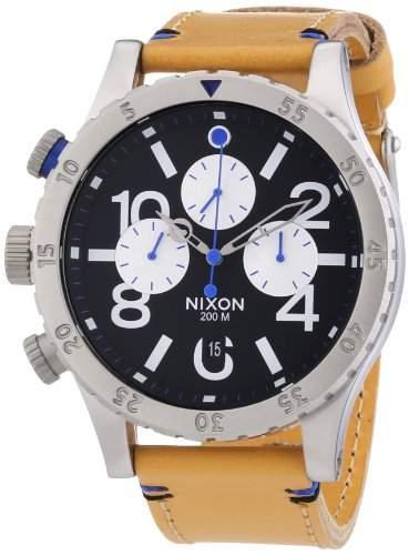 Nixon Herren-Armbanduhr XL Chronograph Quarz Leder A3631602-00