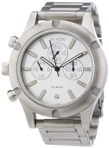 Nixon Damen-Armbanduhr Camden Chrono Chronograph Quarz Edelstahl beschichtet A354130-00