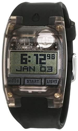 Nixon Damen-Armbanduhr Comp S All Black Digital Quarz Silikon A336001-00