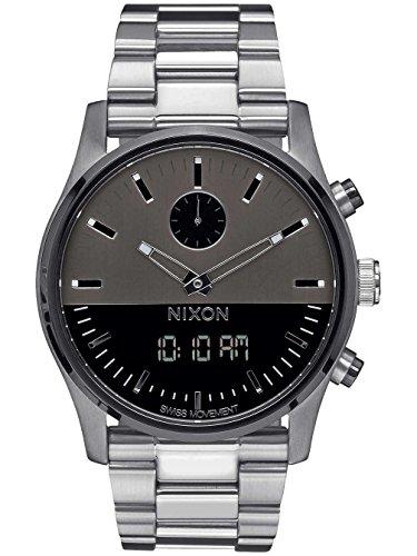 Gunmetal Grau der Duo Armbanduhr von Nixon