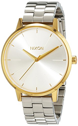 Nixon Kensington Gold Silver Analog Quarz Edelstahl A0992062 00