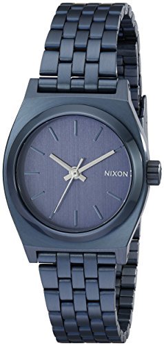 Nixon Small Time Teller All Indigo Analog Quarz Edelstahl A3991929 00