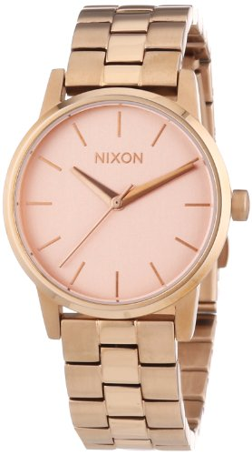 Nixon XS Small Kensington All Rose Gold Analog Quarz Edelstahl beschichtet A361897 00