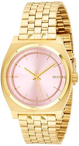 Nixon Herren Armbanduhr Time Teller Analog Quarz Gold beschichtet A0452360 00